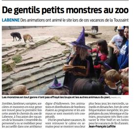 Le Zoo de Labenne dans la presse...